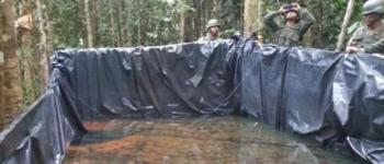 Militares hallan piscina de gasolina blanca en Shushufindi